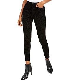 Juniors' Velvet Leopard Jeans