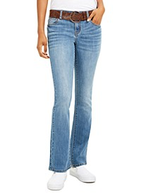 Juniors' Stretch Bootcut Jeans