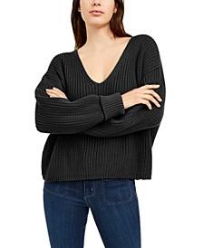 Mozart Cotton V-Neck Sweater