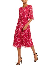 Albertine Printed Bell-Sleeve Dress