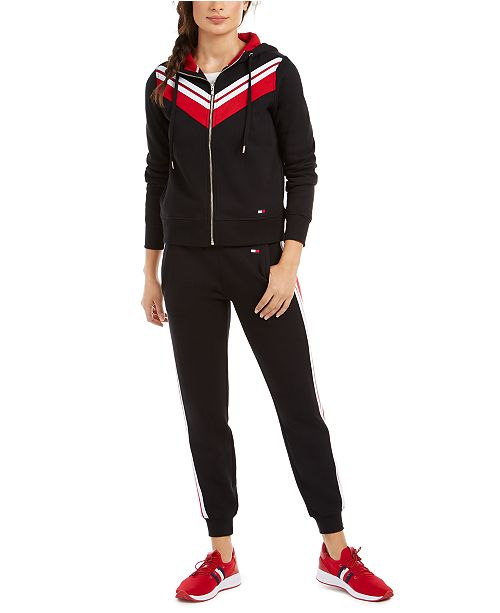Tommy Hilfiger Fleece Varsity Zip-Up Hoodie & Joggers