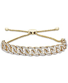 Diamond Chain Link Bolo Bracelet (1 ct. t.w.) in 10k Gold, Created for Macy's
