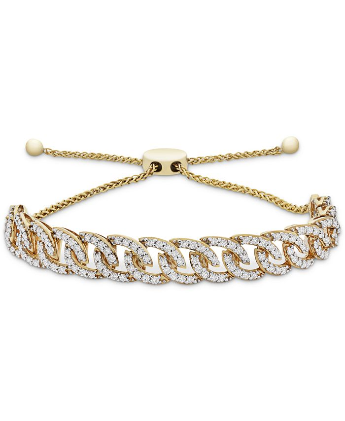 Wrapped in Love - Diamond Chain Link Bolo Bracelet (1 ct. t.w.) in 10k Gold