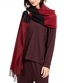 Colorblocked Fringe-Trim Scarf