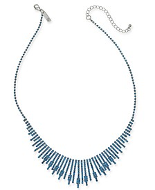 """INC Silver-Tone Pavé Stick Statement Necklace, 17"""" + 3"""" extender, Created For Macy's"""