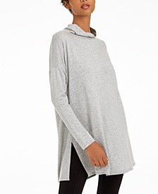 Side-Slit Turtleneck Top, Regular & Petite