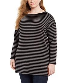 Plus Size Striped Tunic Top