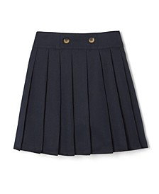 Little Girls Adjustable Waist Front Button Pleated Scooter