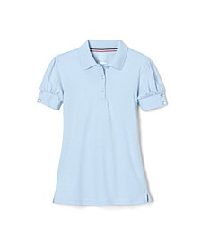 Big Girls Puff-Sleeve Polo