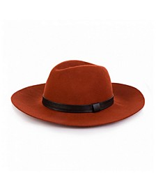 Wool Fedora Ribbon Hat