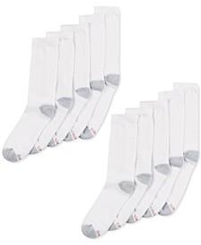 Men's 10-Pk. Cushioned Crew Socks
