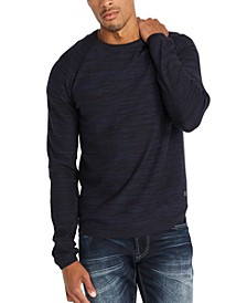 Men's Textured Stripe Sweater