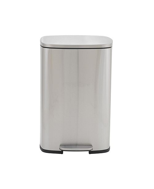 Household Essentials Stainless Steel 50L Canyon Rectangular Trash Can