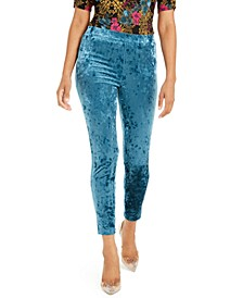 Velvet Stretch Leggings, Created For Macy's