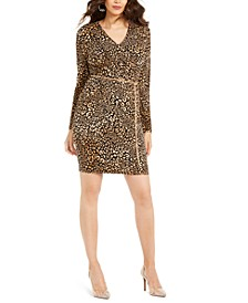 Printed Surplice Sheath Dress, Created for Macy's