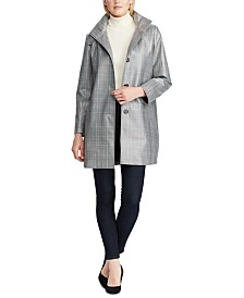 Lauren Ralph Lauren Plaid-Print Trench Coat