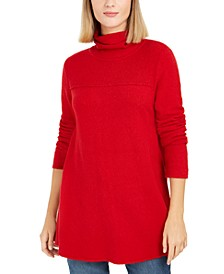 Exposed-Seam Mock-Neck Tunic Sweater, Created for Macy's