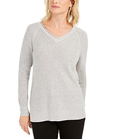 V-Neck Pullover Knit Sweater, Created for Macy's