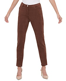 Faux-Suede Slim Pants