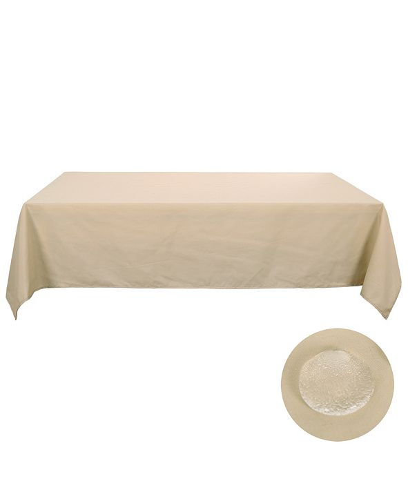 """DECONOVO Rectangle Spillproof Wrinkle Resistant Tablecloth, 54"""" W x 72"""" L"""