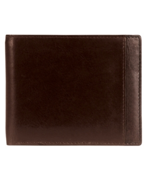 Casablanca Collection Men's Rfid Secure Center Billfold with Removable Center Wing Passcase