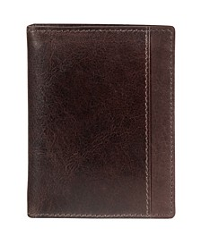 Casablanca Collection Men's RFID Secure Center Unique Vertical Wing Wallet