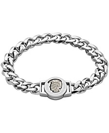 Men's Mohican Head Engraved Stainless Steel ID Bracelet