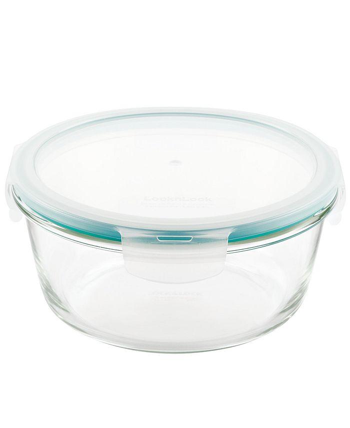 Lock n Lock - Purely Better Glass 32-Oz. Round Food Storage Container