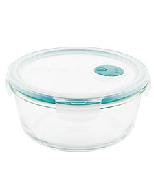 Purely Better Vented Glass 32-Oz. Round Food Storage Container