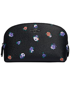 Rosebud Leather Cosmetic Case