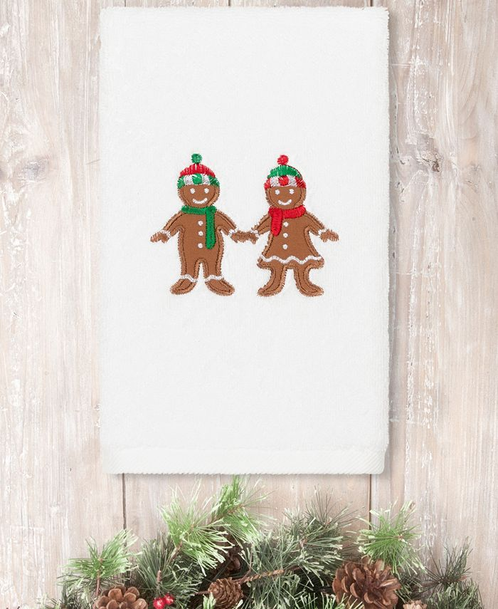Linum Home - Christmas Gingerbread Embroidered 100% Turkish Cotton Hand Towel