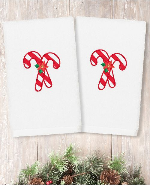 Christmas Candy Cane.Christmas Candy Canes Embroidered 100 Turkish Cotton Hand Towels
