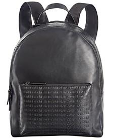 Men's Embossed Logo Backpack