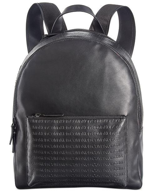 Calvin Klein Men's Embossed Logo Backpack
