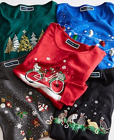 Graphic Holiday Print Shirts, Regular & Petite Sizes, Created For Macy's