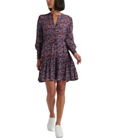 Lucky Brand Carrie Drawstring-Waist Dress
