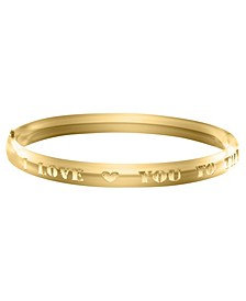 Children's I Love You to the Moon Bracelet in 14k Yellow Gold over Brass Alloy