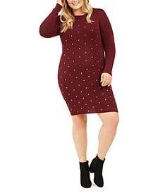 Derek Heart Trendy Plus Size Studded Sweater Dress
