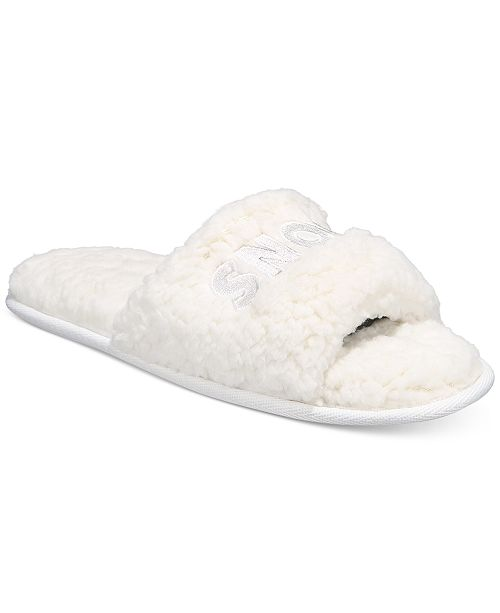 Jenni Women's Snow What Sherpa Slippers, Created For Macy's