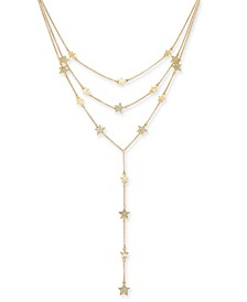 Gold-Tone Pavé Star Layered Lariat Necklace, Created For Macy's