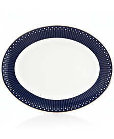 kate spade new york Mercer Drive Platinum Oval Platter
