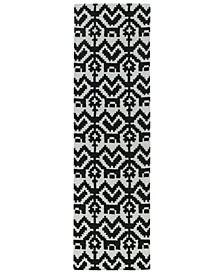 Lakota LKT07-02 Black 2'3 x 8' Runner Rug