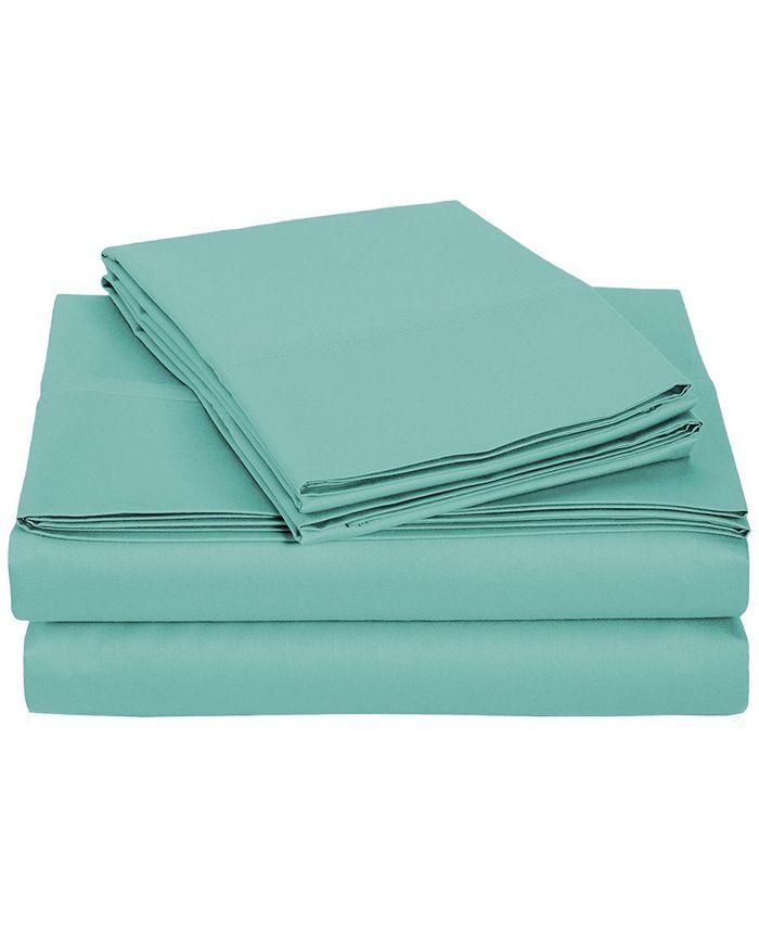 Universal Home Fashions - University 6 pc Teal Solid Full Sheet Set