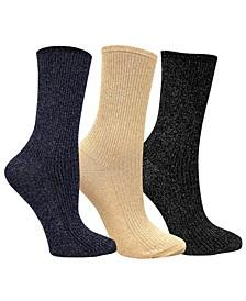 3 Pack Women's Shimmer Socks Bundle by