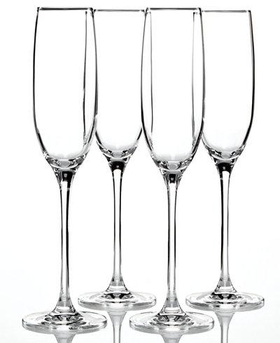 Lenox stemware tuscany classics flutes set of 4 all glassware drinkware dining - Lenox colored wine glasses ...