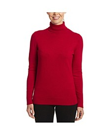 Solid Turtleneck with Button Cuff