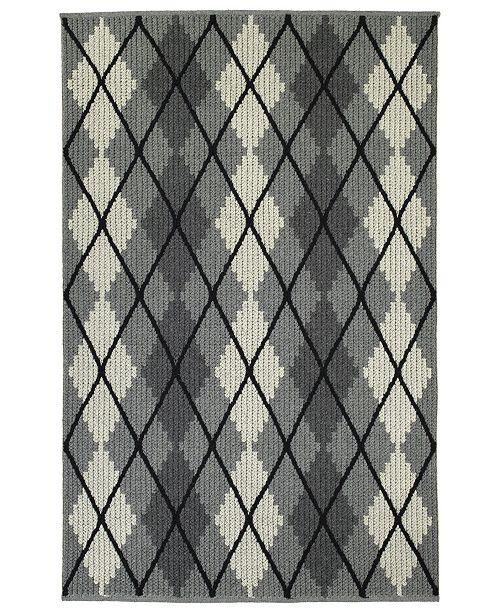 """Kaleen Paracas PRC01-68 Graphite 5' x 7'6"""" Area Rug"""