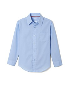 Husky Boys Long Sleeve Dress Shirt with Expandable Collar