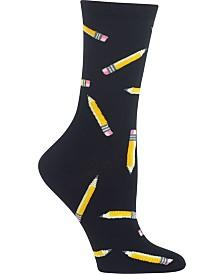 Hot Sox Women's Pencils Crew Socks