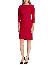 Lauren Ralph Lauren Embellished-Placket Jersey Dress